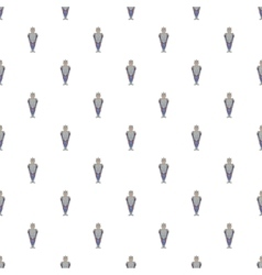 Medieval knight pattern cartoon style vector