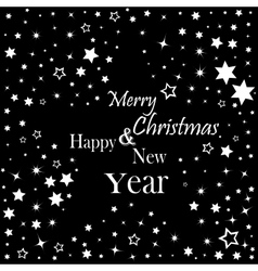 Merry Christmas and Happy New Year lettering vector image