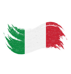 national flag of italy designed using brush vector image