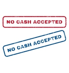 No Cash Accepted Rubber Stamps vector