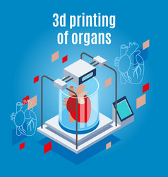 organs 3d printing background vector image