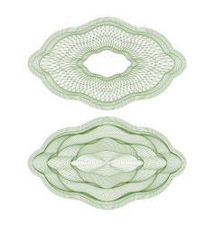 Oval guilloche rosettes vector