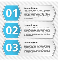 Papper Banners with Numbers vector