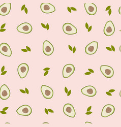 Pink pattern with avocado vector