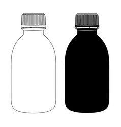 Plastic bottles black and white drawing vector