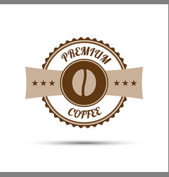 Premium coffee sticker vector