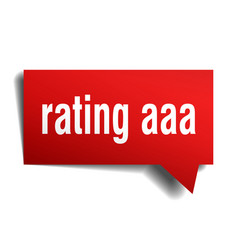 Rating aaa red 3d speech bubble vector
