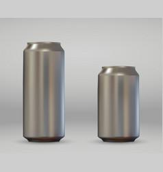 realistic aluminium can vector image