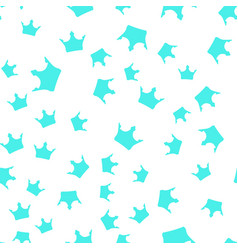 Seamless pattern blue silhouettes crowns on a vector