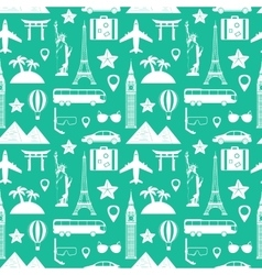 Seamless pattern Travel and tourism concept vector