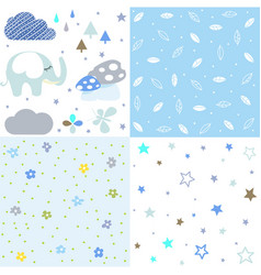 set bashower patterns vector image