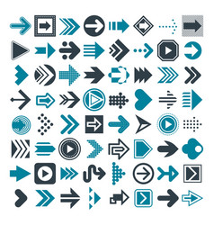 set of different arrows and cursors vector image