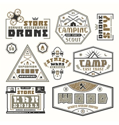 Set of emblems for t shirt vector