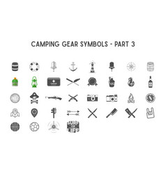 Set of silhouette icons and shapes with vector