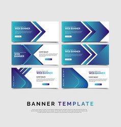 set of six abstract bannersmodern template vector image
