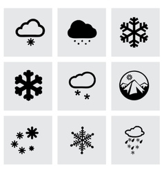 snow icon set vector image