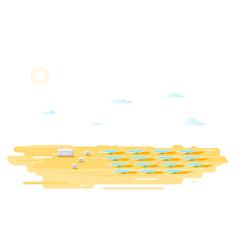 solar photovoltaics power station vector image