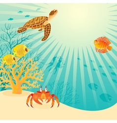 Sunny underwater life vector image
