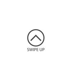 swipe up icon vector image