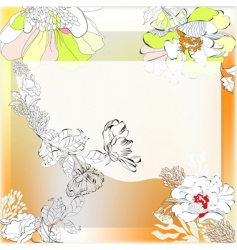 template for decorative background vector image