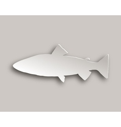 Trout paper style vector image
