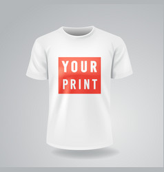 white t-shirts with short sleeves mock up place vector image