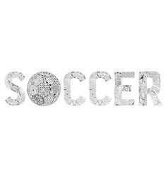 word soccer for coloring decorative vector image