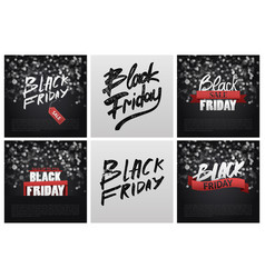 black friday sale poster background handwritten vector image