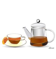 coffee and tea vector image