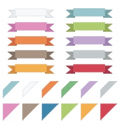 corners and ribbons vector image vector image