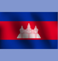 flag of cambodia - vector image vector image