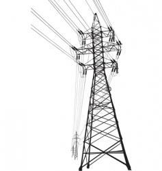 high voltage power line vector image