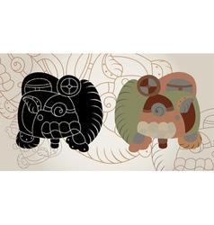 Maya sings vector image