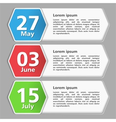 Paper Banners with Dates vector image
