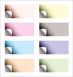 sticker curl backing pale vector image vector image