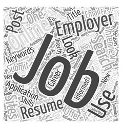 Using Online Job Sites in Your Career Search Word vector image