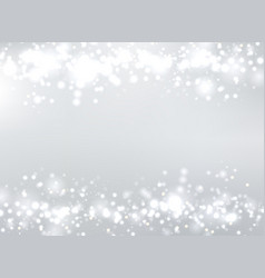 abstract gray blurred background with bokeh and vector image vector image