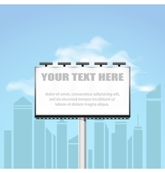 Big blank billboard in cityscape background shape vector image vector image