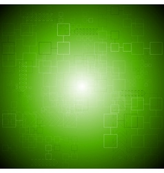 Green tech background vector image vector image