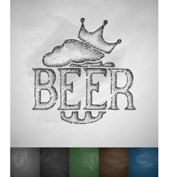 king beer icon vector image vector image