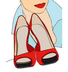 My sexy shoes vector image