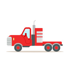 red cargo truck colorful cartoon vector image