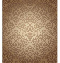 retro damask wallpaper vector image vector image