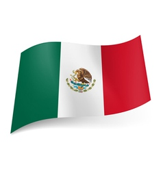 State flag of Mexico vector image vector image