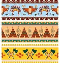 Tribal Ethnic Vintage Background vector image vector image