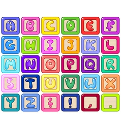 alphabet blocks vector image