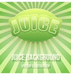 Background of Label for apple juice Bright premium vector image vector image