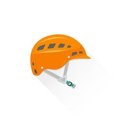 color alpinism equipment helmet icon vector image vector image