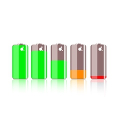 Colorful battery icon vector image vector image