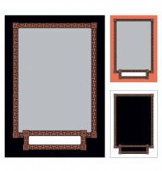 greek frame vector image vector image
